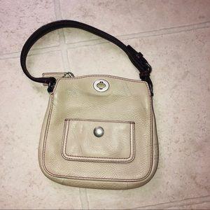 Coach Taupe Mini Handbag